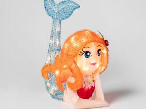 Wondershop Lit Christmas Tinsel Mermaid Novelty Sculpture