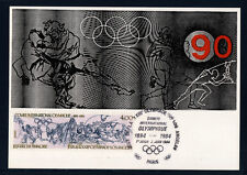 carte  1er jour   jeux olympiques de Los Angéles   75 Paris  1984