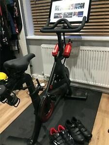 Peleton spin exercise bike - excellent condition with shoes and accessories