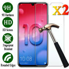 For Huawei Honor 8X 8 9 10 Lite 20 Pro 20i 2Pcs Tempered Glass Screen Protector