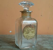 Rare Old Vintage Antique Ideal Houbigant Baccarat Unsigned Perfume Bottle