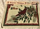 """3 NEW TAPESTRY CARDINAL CHRISTMAS PLACEMAT PANEL ALSO USED FOR PILLOWS 13 X 18"""""""