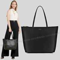 NWT 🌺 Furla Luce Large Shopper Leather Travel Tote 1023601 BWQ3 R76 Nero Black