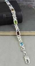 RDC 925 Sterling Silver & Multi-Color Stone Tennis Bracelet