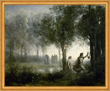Orpheus leading Eurydice from the Underworld Camille Corot mitología B a1 02501