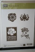 e STAMPIN UP RETIRED STAMP SET FRIENDS NEVER FADE 4 PC SOME STAINING