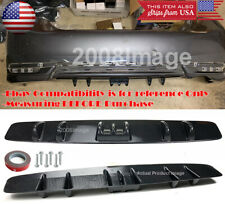"30"" Carbon Effect Rear Bumper Diffuser Splitter Shark Fin Canard For VW Porsche"