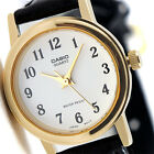 Casio Ladies White and Gold Plated Analog Leather Band Watch LTP-1095Q-7B New