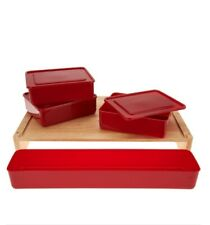 Cutting board with Bundle Storage. Red)