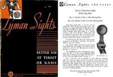 Lyman 1945 Gunsights Catalog #30