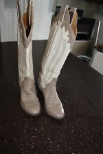 Women's Panhandle Slim Cowboy Boots - beige/taupe – size 5