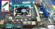 intel chipset H55 MotherBoard processor + intel i3 processor + 4GB Ram DDR3
