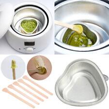 HK- Melt Bowl Hair Removal Hard Wax Bean Warmer Depilatory Waxing Wood Stick Spa