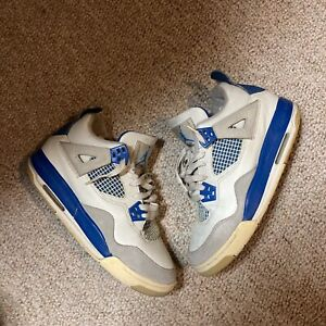 2004 Jordan 4 Military Blue Size 4.5y RARE See Pictures