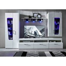Wohnwand Anbauwand Wohnzimmerschrank Wohnverbau ca. 330 cm SPIRIT PLUS Weiß HG
