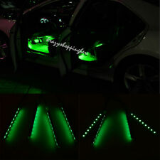 4x Green Car Charge LED Interior Light Atmosphere Decorative Floor Decor Lamp