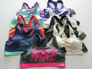 Nike Dri Fit Pro Compression Womens Sports Bra W/Removable Pads Nwt