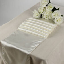 """Satin Table Runner lines 10pcs Wedding 12""""X108"""" venue party decoration - Ivory"""