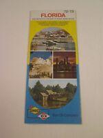 Vintage 1972 Sunoco DX Florida - Oil Gas Service Station Travel Road Map