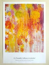 CY TWOMBLY ABSTRACT EXPRESSIONIST GAGOSIAN GALLERY LITHOGRAPH PRINT EXHBT POSTER