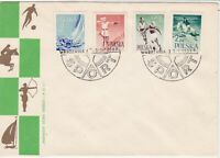 Polish 1959 Various Sports Warsaw Cancel FDC Stamps Cover ref 23006