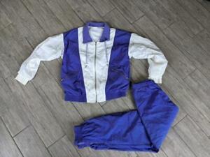 1980-90s vintage NIKE windbreaker TRACK SUIT jordan M purple 2Pc pants jacket