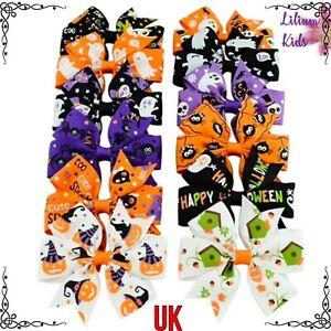 Halloween Glow in the Dark Spider Charm Glitter Hair Bow clips Glow In The Dark Halloween Hair Accessories.