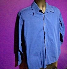 GAP Mens Dress Shirt Sz M 15-15.5 Blue Long Sleve