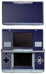 Blue Carbon Fiber Vinyl Decal Cover Skin Sticker Cover for Nintendo DS Original