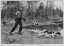 DEER HUNTING PUTTING THE DOGS ON TRAIL, by A. B. FROST