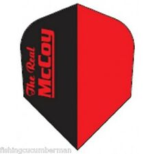 McCOY TWO TONE RED & BLACK EXTRA STRONG DART FLIGHTS