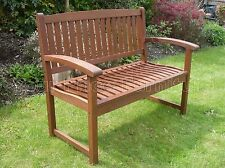 Henley 2 Seat Bench Chunky Quality Hardwood Garden Patio Furniture Free Delivery