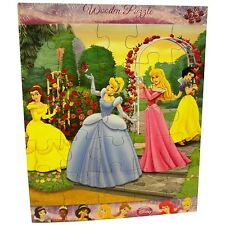 WHOLESALE LOT of 10 Disney Princess Wooden Puzzle - New - Unopened
