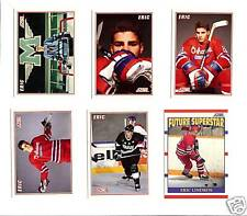 1990 ERIC LINDROS SCORE ROOKIE COLLECTIONS OF SIX, 6 HOCKEY CARDS