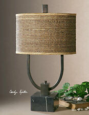 ART DECO TABLE LAMP RESTORATION RATTAN SHADE