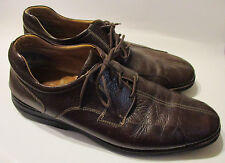 16 Wide Johnston Murphy Oxfords Shoes Shuler Bicycle Toe Brown Leather 20-7223 W