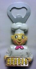1 RARE Fat Chef Magnet with Beer Bottle opener, Chef with Cookies