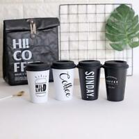 400ml Stainless Steel Reusable Coffee Cup Travel Mug Travel Takeaway with Lid