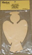 "ANGEL With Halo Unfinished Wood Shape Cut Out 27022 (8 1/3""x 4 3/4"" x 1/4"")"