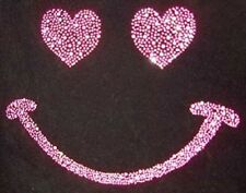 "hotfix rhinestones heat transfer Iron on ""Pink Neon Smile """