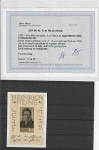 DDR MiNr. Block 37 PH ** Postfrisch - Befund Henry Mayer -