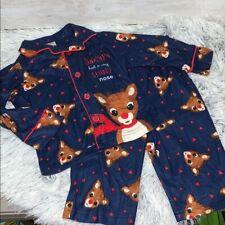 Toddler Baby Kids Girls Boys Christmas Rudolph Tops Pants Pajamas Sleepwear Set