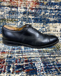 Allen Edmonds Park Avenue Black Leather Cap Toe Oxfords Shoes Men Sz 13 B USA