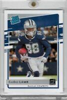 2020 Panini Donruss Football CeeDee Lamb Rated Rookie Dallas Cowboys RC Card