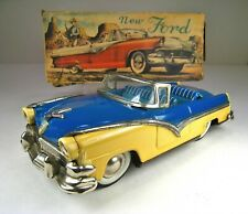 """HAJI IRCOTin Friction 1956 Ford Sunliner Convertible 7"""" Excellent With Box"""