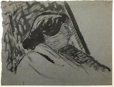 JEAN PUY Original ~ FRENCH FAUVIST ~ c1905 Woman Resting INK & WASH