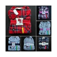 BNWT PRIMARK FLANNEL TARTAN XMAS PYJAMAS BOYFRIEND BUTTON DOWN SIZES 4 - 20