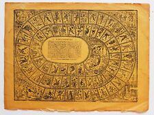Jose Guadalupe Posada Engraving Board Game El Juego de la Oca Original Engraving
