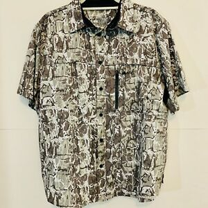 Silver Bait Fishing Outdoor Vented Shirt Sz Large 101760
