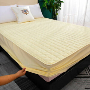 Mattress Pad Cover Topper Protector Quilted Fitted King Queen Full Twin Sheets